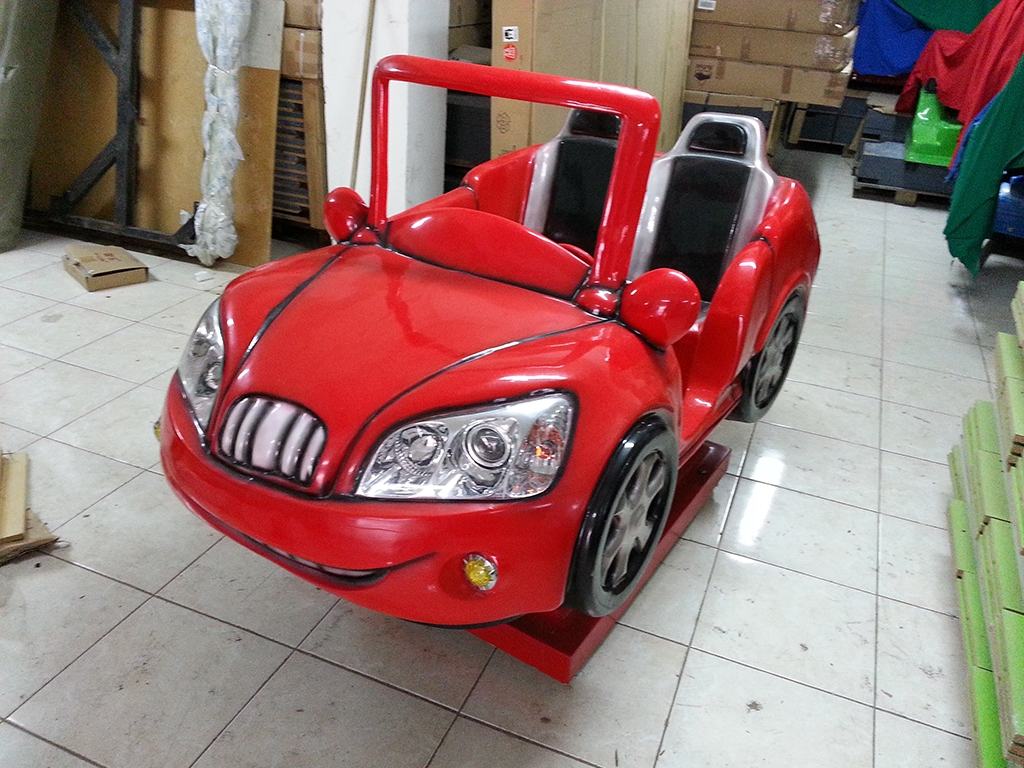 Süper Red Araba Kiddie Rides